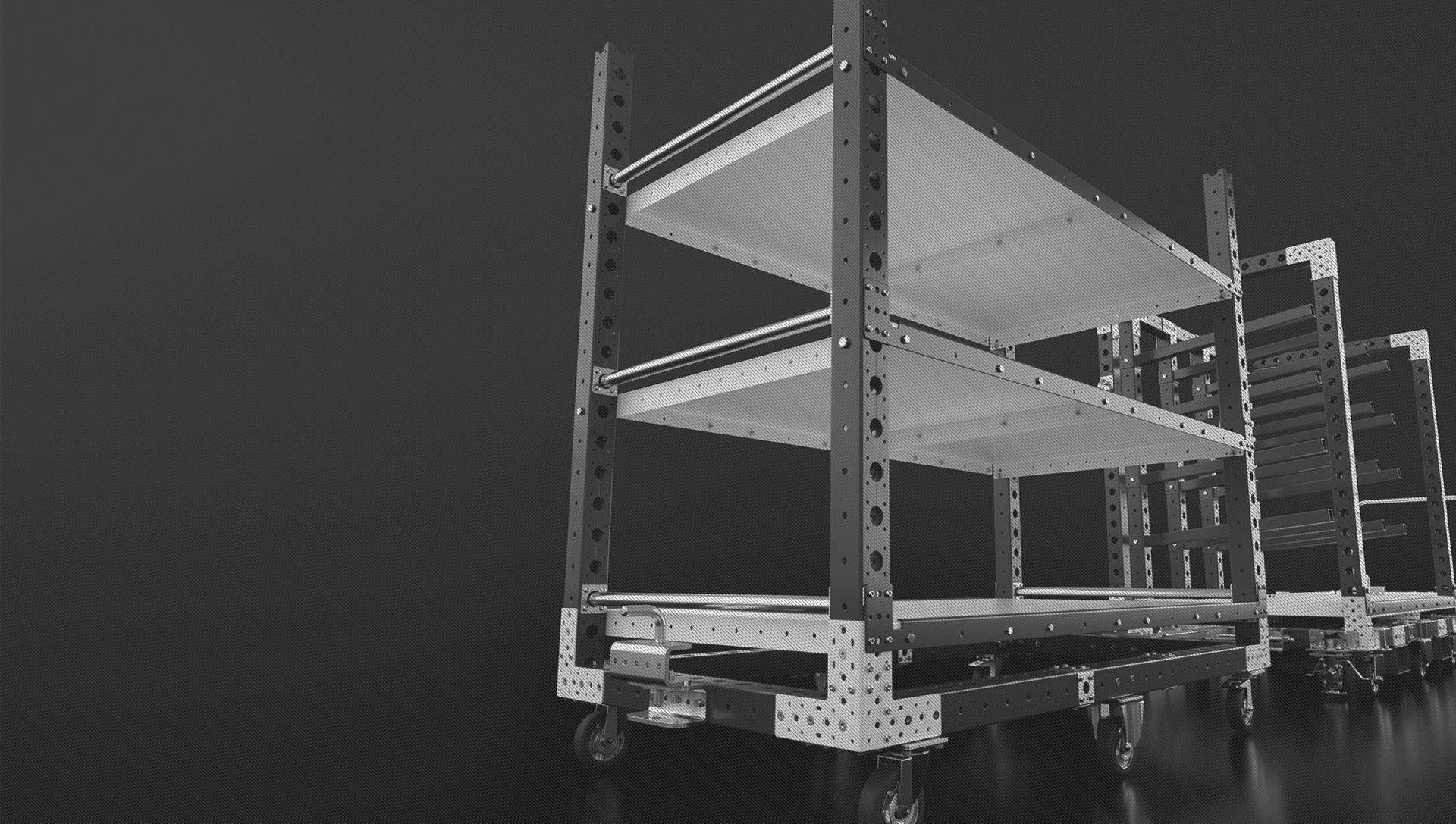 Renderings of FlexQube carts