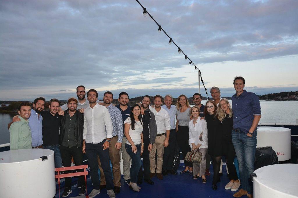The FlexQube team on a dinner cruise