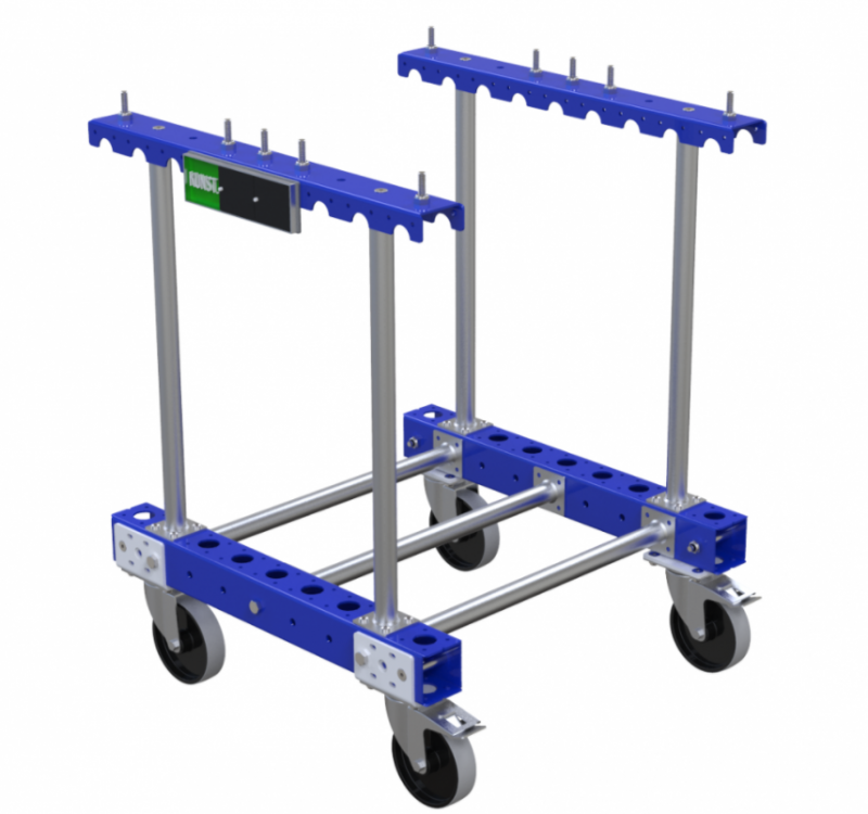 Industrial cart for trash by FlexQube