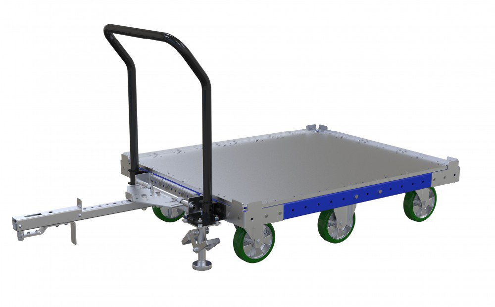 FlexQube pallet cart with flat deck