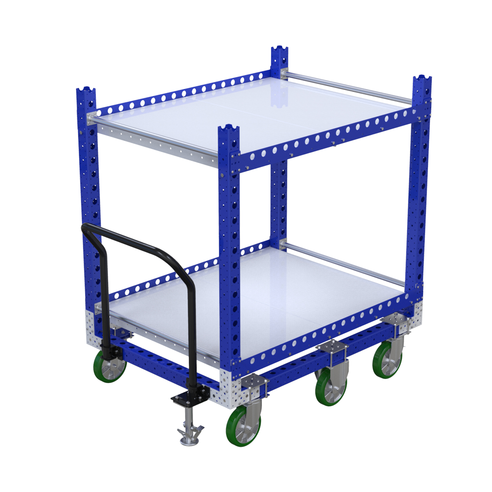Two shelf cart by FlexQube
