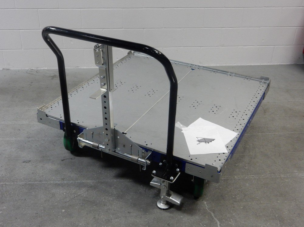 FlexQube 50 x 50 inch tugger cart with handlebar