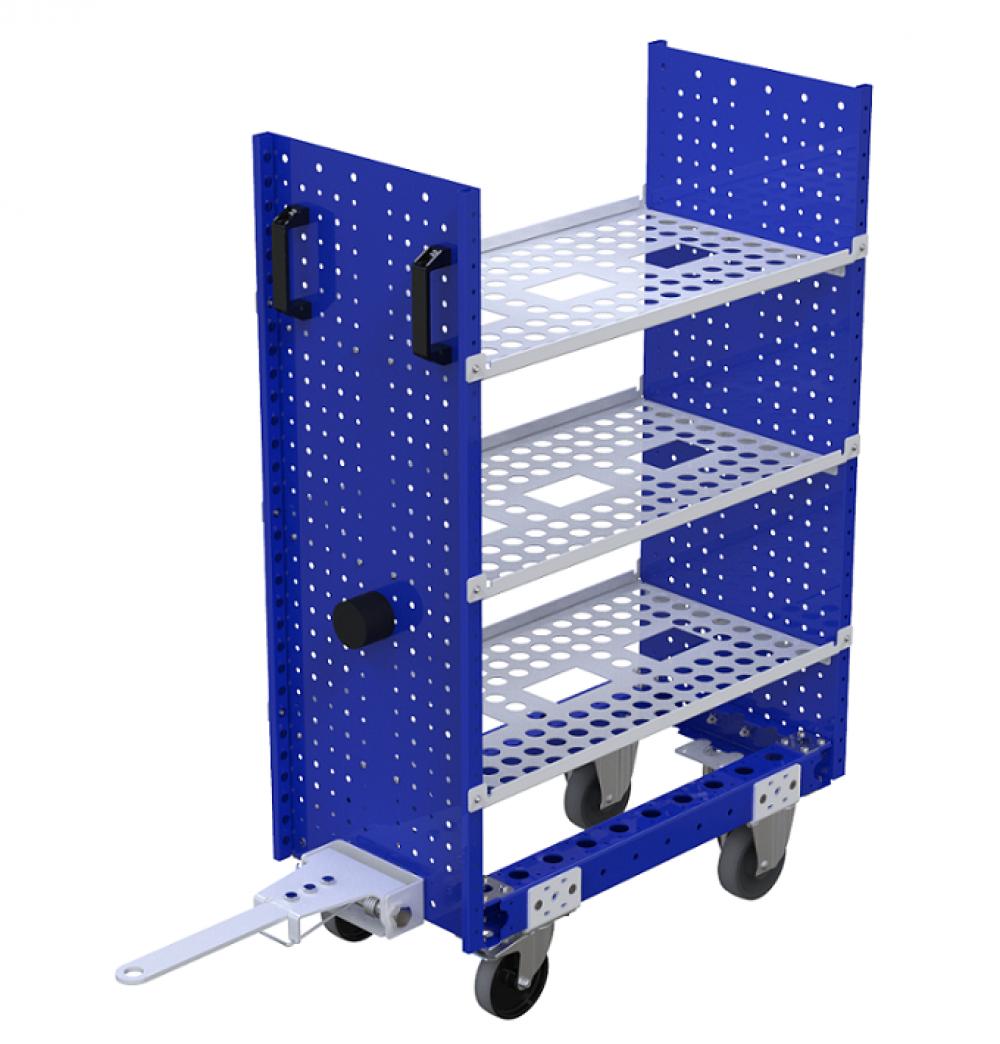 FlexQube modular material handling shelf cart