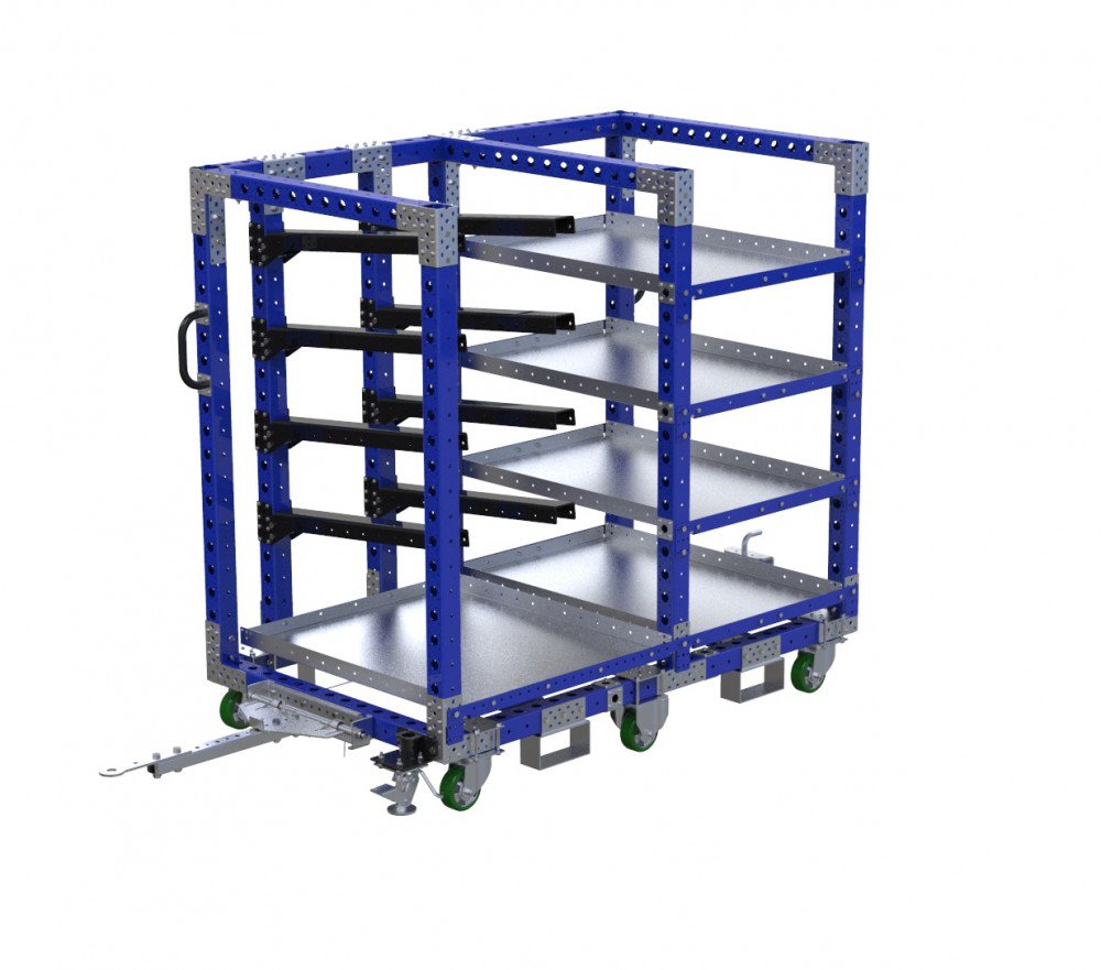 FlexQube Material Handling heavy duty kit cart