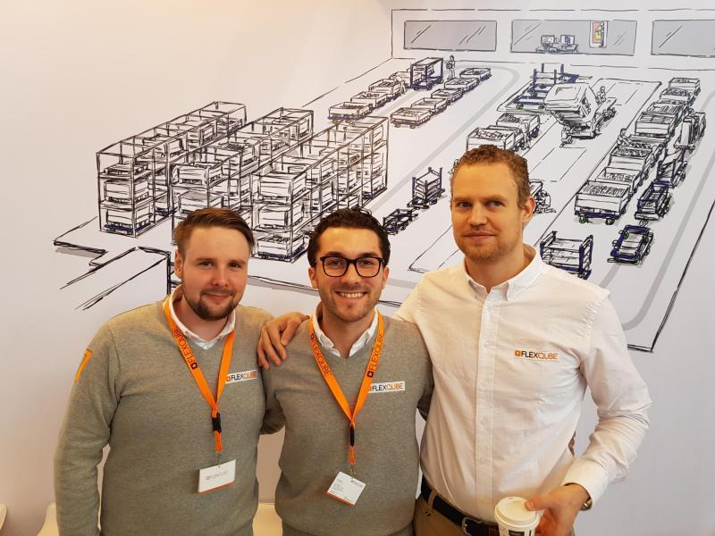 FlexQUbe colleagues at LogiMAT 2018