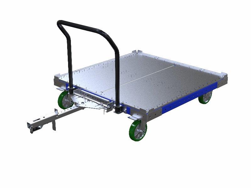 FlexQube Material Handling tugger cart 50 x 50 inch