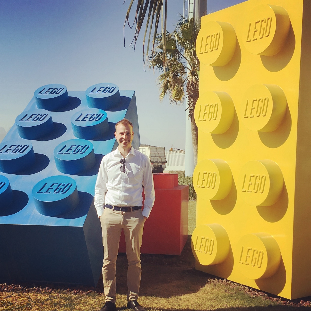 FlexQube CEO with Lego
