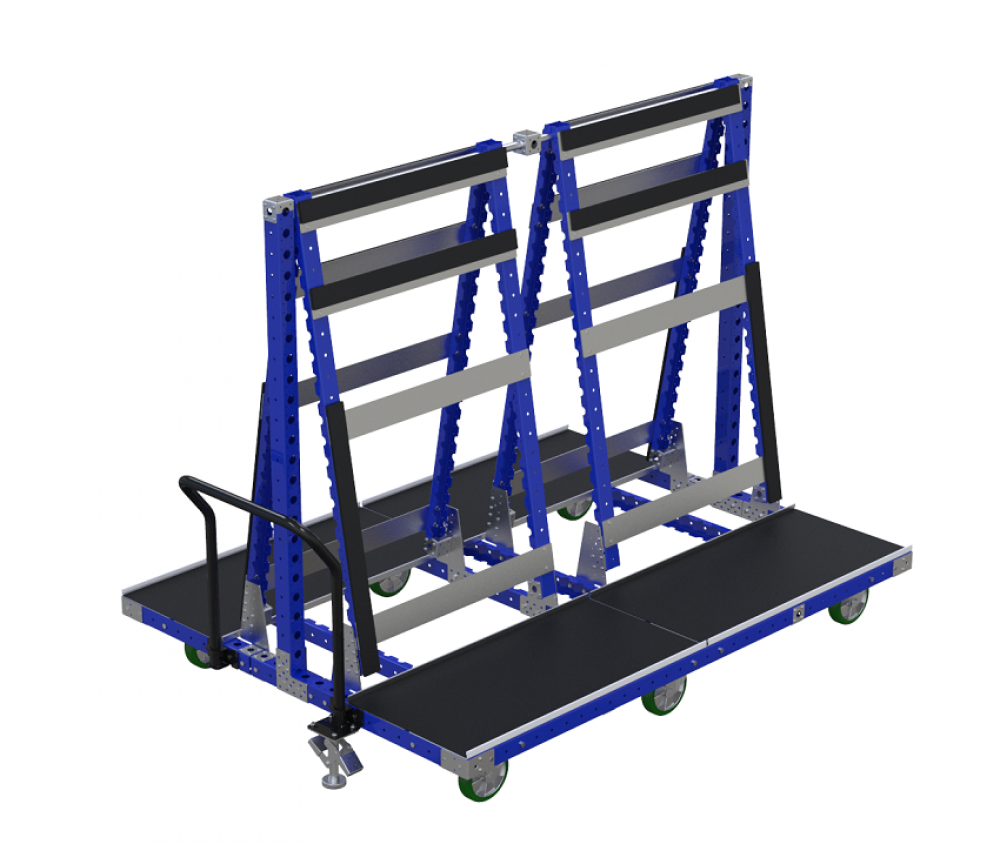 FlexQube Material Handling windshield cart