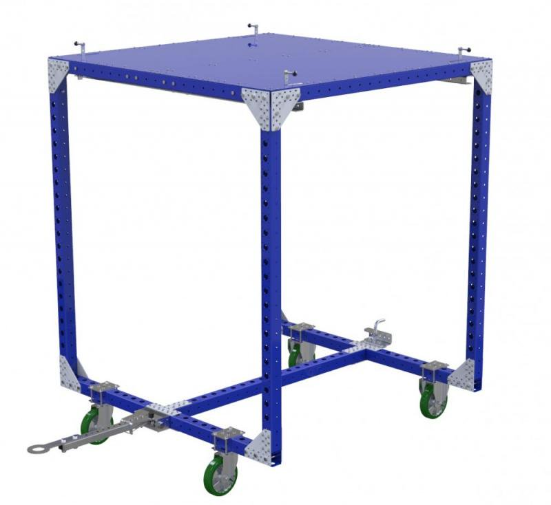 Industrial material handling cart 2 in 1 by FlexQube