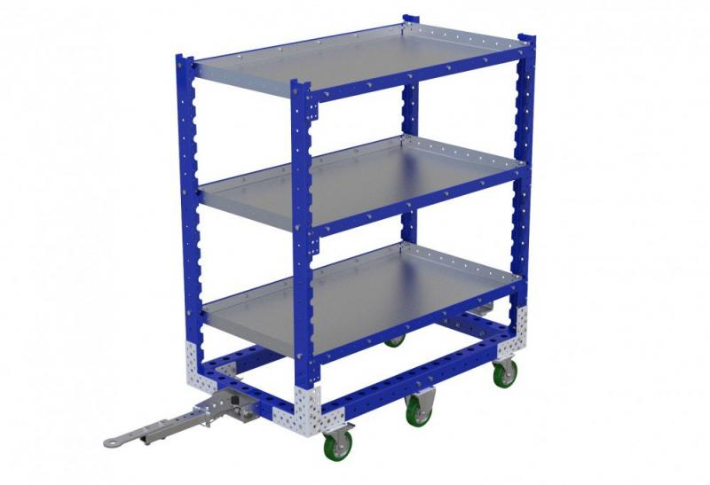 FlexQube Material Handling tugger shelf cart