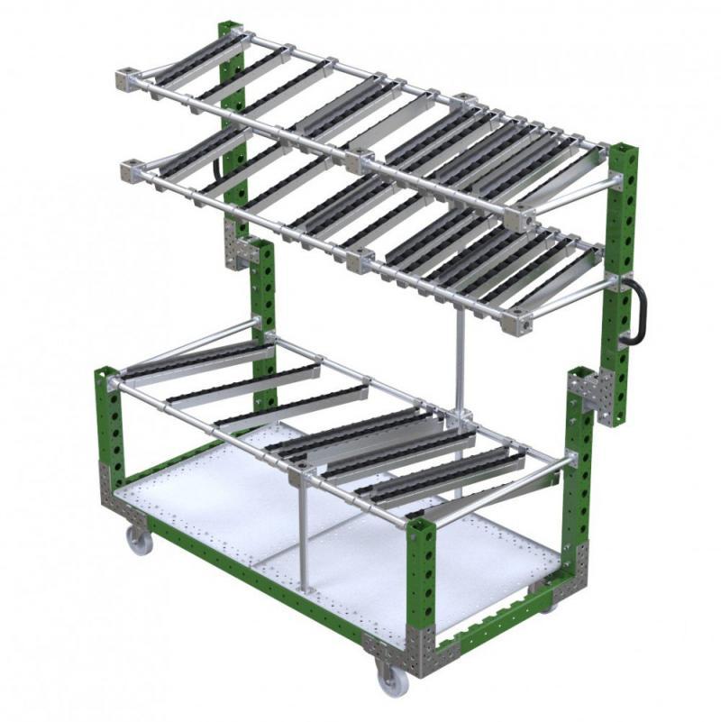 FlexQube Material Handling presentation cart