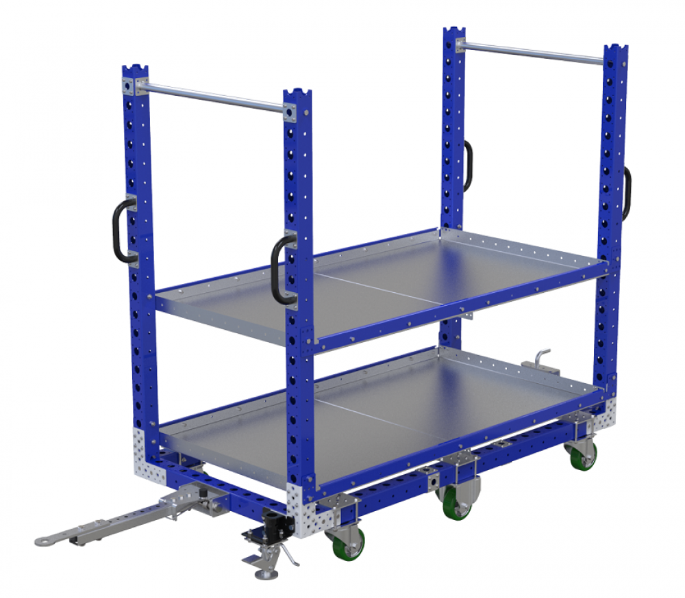 FlexQube Material Handling custom built shelf cart